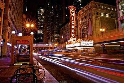 Photograph - The Chicago Theatre by Linda Unger