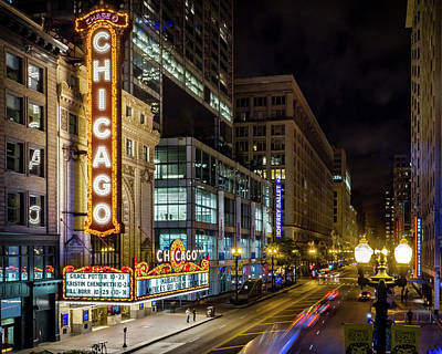 Photograph - The Chicago Theatre by Ron Pate