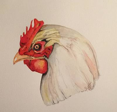 Painting - The Chicken by Mary Scott