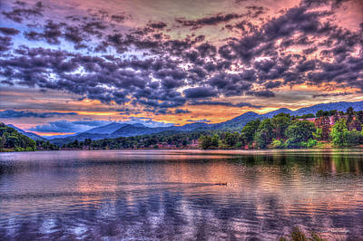 The Chief Ducks Lake Junaluska North Carolina Art Print by Reid Callaway