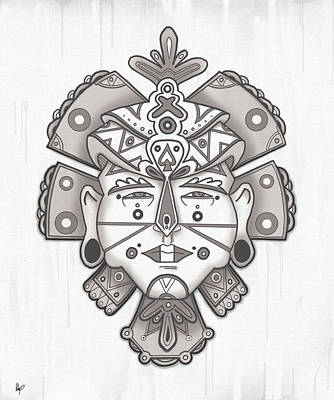 Tribe Drawing - The Chief by Roly Orihuela