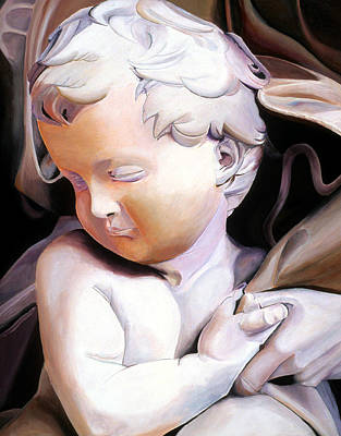 Painting - The Child From Michaelangelo by JoeRay Kelley