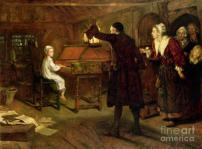 The Child Handel Painting - The Child Handel Discovered By His Parents by Margaret Isabel Dicksee