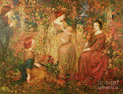 Father Painting - The Child by Thomas Edwin Mostyn