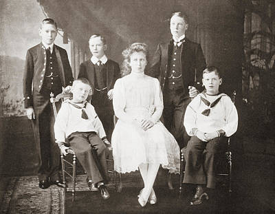 The Children Of King George V. From Art Print