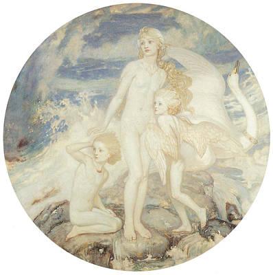 The Children Of Lir Art Print by John Duncan