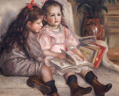 Brown Hair Painting - The Children Of Martial Caillebotte by Pierre Auguste Renoir
