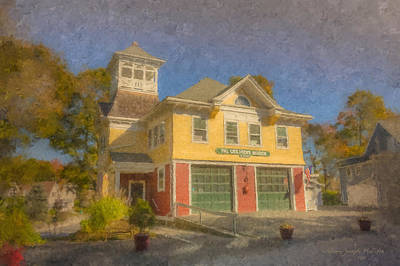 Of Firehouse Painting - The Children's Museum Of Easton by Bill McEntee