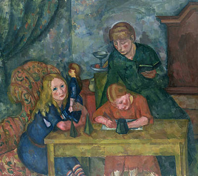 Mummies Painting - The Children's Parlour by Fritz Friedrichs