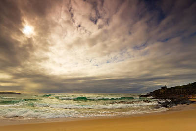 Beach Photograph - The Chill Morning Coming At Me by Michael Hodgkins