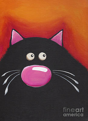 Fat Cat Wall Art - Painting - The Chilling Cat  by Lucia Stewart