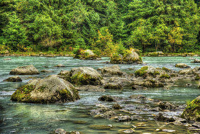 Photograph - The Chillkoot River Hdr by Richard J Cassato