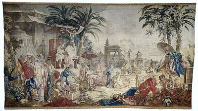 Tapestry - Textile - The Chinese Market  Manufacture Royale De Beauvais 1767  1769 by R Muirhead Art