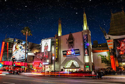 Outdoor Graphic Tees - The Chinese Theater 2 by Robert Hebert