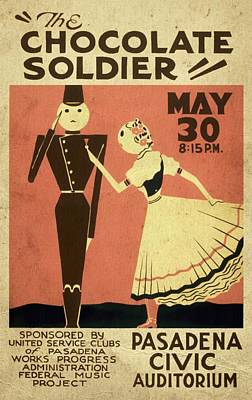 Strau Mixed Media - The Chocolate Soldier - Vintage Poster Vintagelized by Vintage Advertising Posters