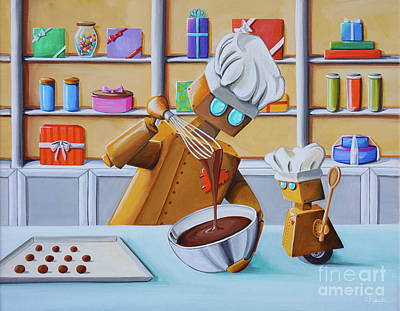 The Chocolatiers Art Print by Cindy Thornton