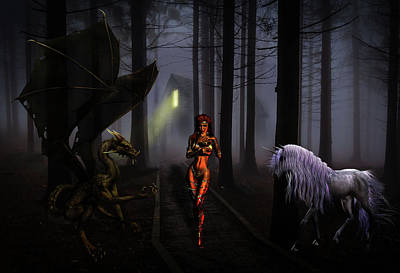 Pathway Digital Art - The Choices We Make by Solomon Barroa