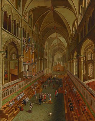 Altar Art Painting - The Choir - Canterbury Cathedral by Mountain Dreams