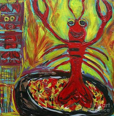 Crawfish Painting - The Chosen One by Sharon Furrate