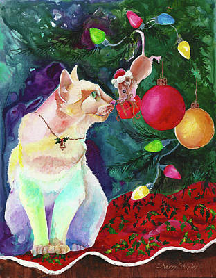 Painting - The Chrismas Present by Sherry Shipley