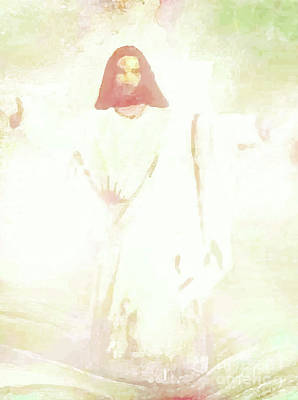 Painting -  The Risen Christ by Hazel Holland