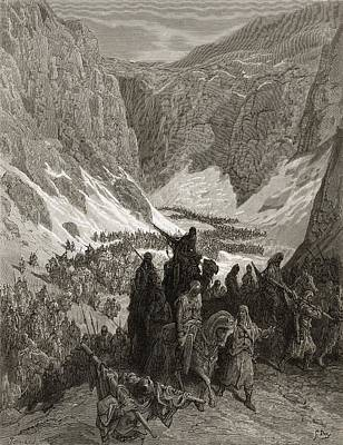 The Christian Army In The Mountains Of Art Print