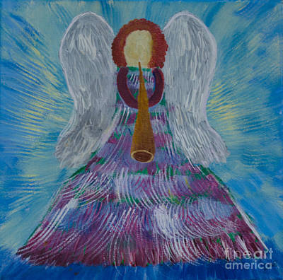 Painting - The Christmas Angel by Donna Brown