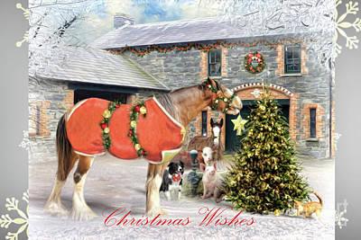 Digital Art - The Christmas Star - Snowflake Edition by Trudi Simmonds