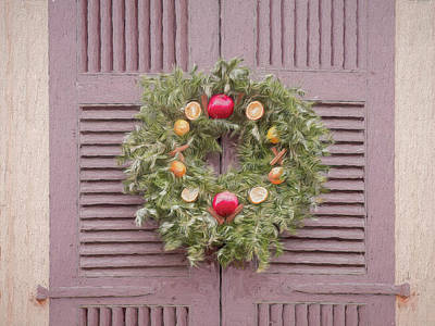 Digital Art - The Christmas Wreath Colonial Williamsburg by Leslie Montgomery