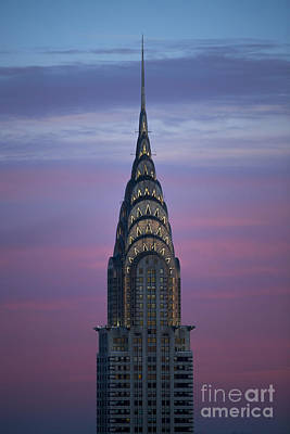 Cities Photograph - The Chrysler Building At Dusk by Diane Diederich