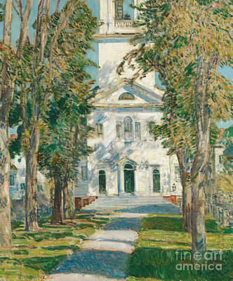 Bell Tower Painting - The Church At Gloucester, 1918 by Childe Hassam