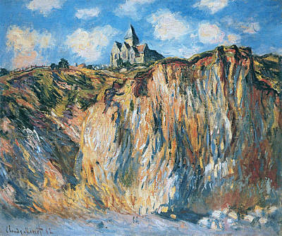 Small Lonely Painting - The Church At Varengeville, Morning Effect, 1882 by Claude Monet