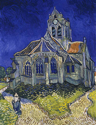 The Church In Auvers Sur Oise View From The Chevet Print by Vincent van Gogh