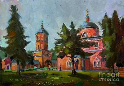 Painting - The Church Of St. Nicholas Of Myra by Nina Silaeva