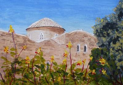 Larnaca Painting - The Church Of The Angels by Nigel Radcliffe