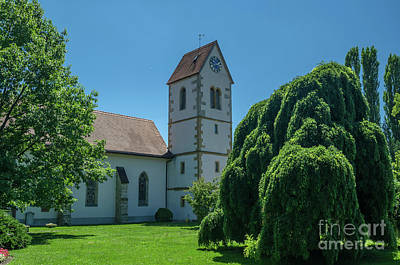 Photograph - the church of the Gottstatt monastery by Michelle Meenawong