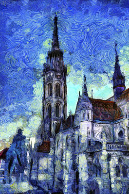Mixed Media - The Church Vincent Van Gogh by David Pyatt