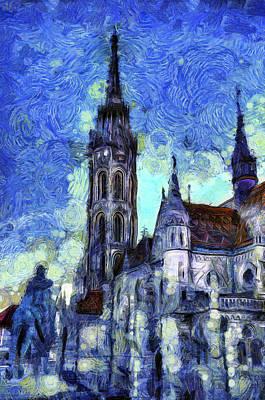 Mixed Media - The Church Vincent Van Gogh by David Pyatt