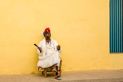 Photograph - The Cigar Lady by Tina Manley