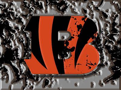Patriot Mixed Media - The Cincinnati Bengals 1b by Brian Reaves