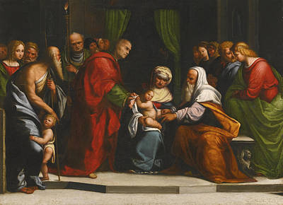 Circumcision Painting - The Circumcision by Benvenuto Tisi