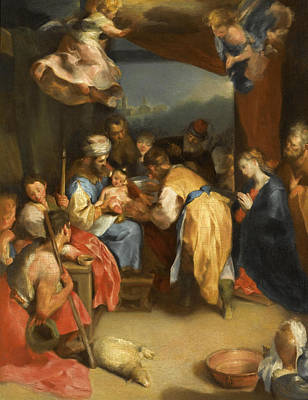 Circumcision Painting - The Circumcision Of Christ by Federico Barocci