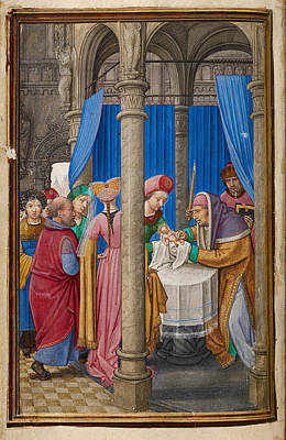 Circumcision Painting - The Circumcision by Simon Bening