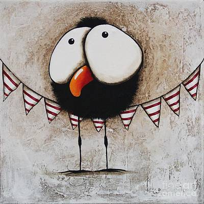 Black Clown Painting - The Circus Crow One by Lucia Stewart