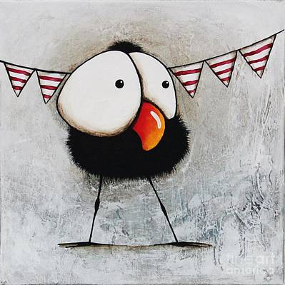 Black Clown Painting - The Circus Crow Two by Lucia Stewart