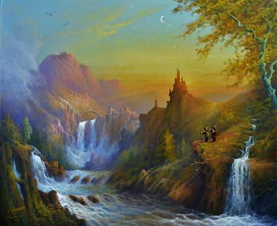 Painting - The Citadel Under The Moon by Joe Gilronan