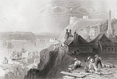Quebec Drawing - The Citadelle, Cap Diamant, Quebec by Vintage Design Pics