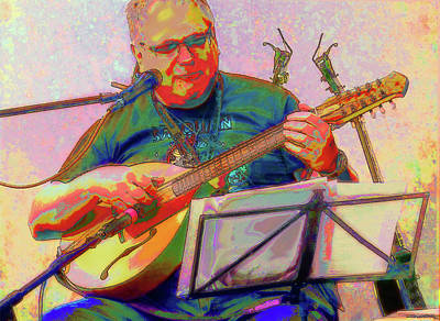 Photograph - The Cittern Player by C H Apperson