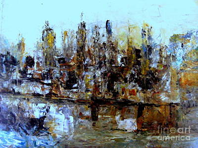 Painting - The City 3 by Nancy Kane Chapman