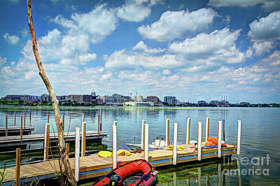 Photograph - The City Across The Lake by Deborah Klubertanz